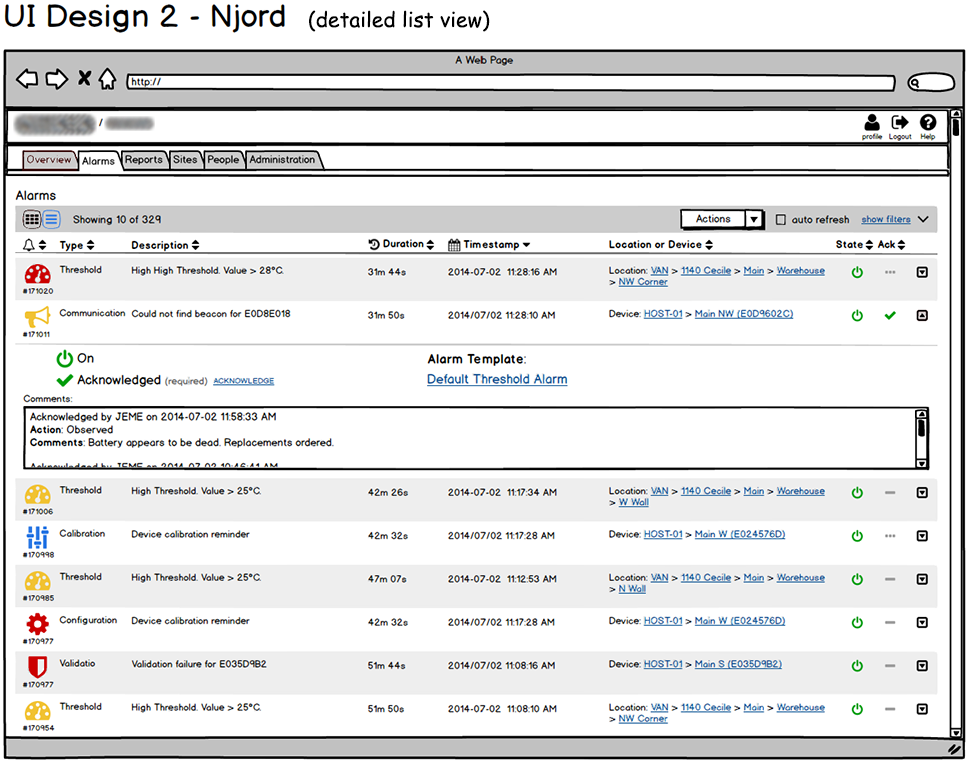 Njord Concept - Tab Navigation (Detailed List View)